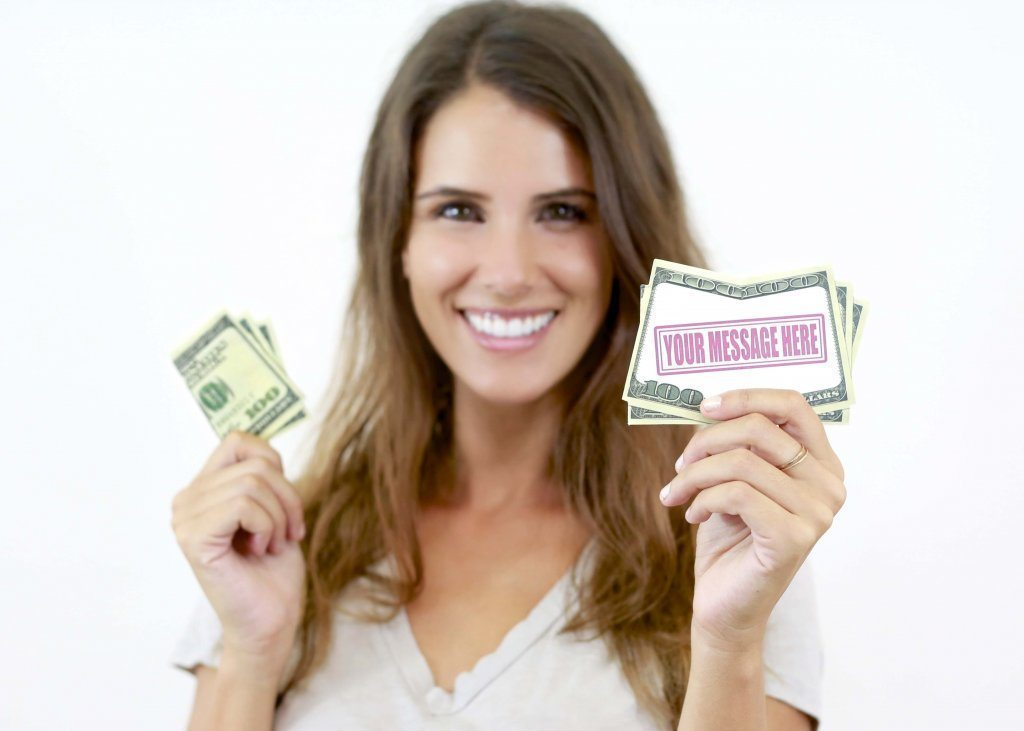Money business cards that look like money - drop cards - sizzle cards - for sale